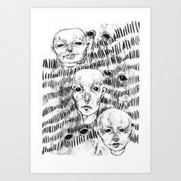 Triplets Art Print
