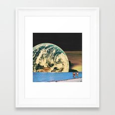 Distant beach Framed Art Print