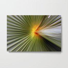 Palm leaf zoom Metal Print