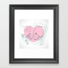 Lark mirror. Framed Art Print