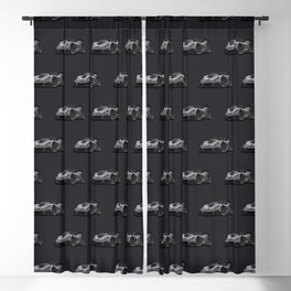Modern American Sports Car Cartoon Blackout Curtain