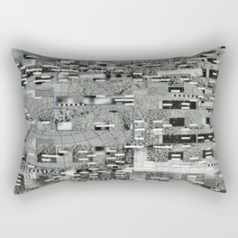 Highly Resolved Ghost (P/D3 Glitch Collage Studies) Rectangular Pillow