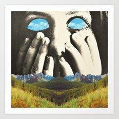 Nauges dans les yeux Art Print