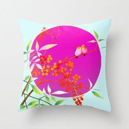 birdies romancing Throw Pillow
