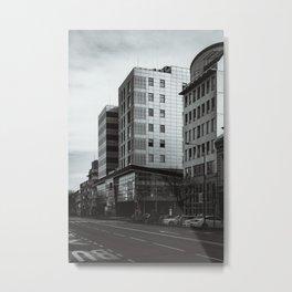 City buildings in Osijek, Croatia / Town / B&W / Monochrome Metal Print