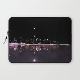 Moonlight In The City Skyline Design Laptop Sleeve