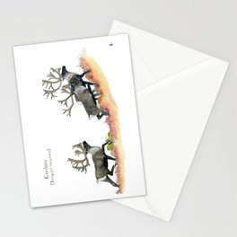 Barren-ground caribou in the tundra Stationery Cards