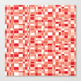 Mod Gingham - Red Canvas Print