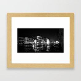 Evening on the Grand Canal, Venice Framed Art Print