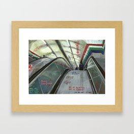 London #5. Piccadilly tube station Framed Art Print