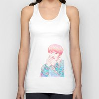 shinee Tank Tops featuring SHINee Taemin by sophillustration