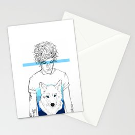 Louis and the wolf Stationery Cards