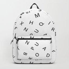 The Missing Letter Alphabet W&B Backpack