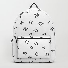 The Missing Letter Alphabet W&B Backpack