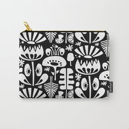 Scandi Flowers White Carry-All Pouch