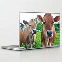 cows Laptop & iPad Skins featuring Cows by Chris Klemens