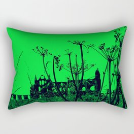 Whitby Abbey in Green Rectangular Pillow