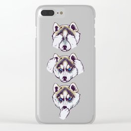 No Evil Husky Clear iPhone Case