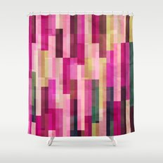 Pinks and Parallels Shower Curtain