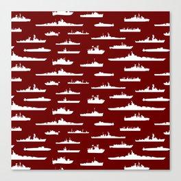 Battleship // Maroon Canvas Print
