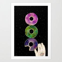 Galaxy Donuts Art Print