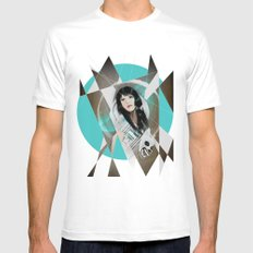 BAT FOR LASHES & The Mask MEDIUM White Mens Fitted Tee