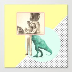Who would like to date a t-rex Canvas Print