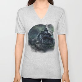The Haunted House Unisex V-Neck