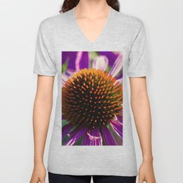 Hedgehog Flower Power Unisex V-Neck