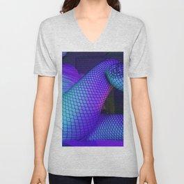 Fishnets in Sleepy Blue Unisex V-Neck