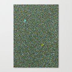 Blue/Green Dot Color Design Canvas Print
