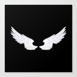 White Angel Wings Canvas Print