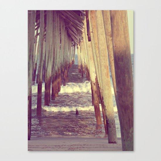 Carolina Beach Pier at Low Tide Canvas Print