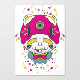 The Grinner Canvas Print