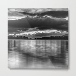 """""""Sunset After The Storm""""  BW Metal Print"""