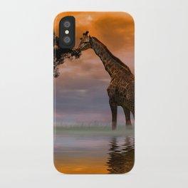 Giraffe at Sunset iPhone Case