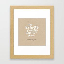 I am my lover's Framed Art Print
