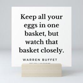 39    Warren Buffett Quotes   190823 Mini Art Print