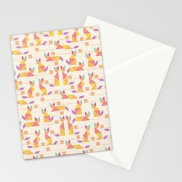 Tangram Cats Stationery Cards