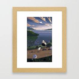 Father & Son Framed Art Print