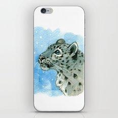 Snow Leopard & snowflakes 860 iPhone & iPod Skin