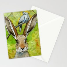 Funny bunnies-thoughts of love 836 Stationery Cards