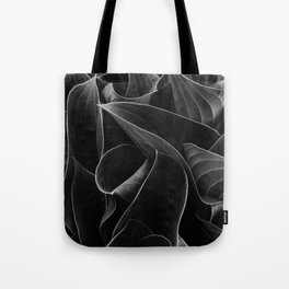 Silver lined leaves Tote Bag