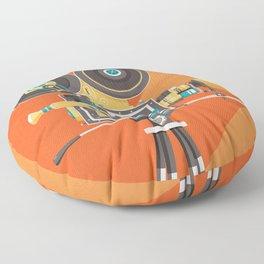 Cine: Orange Floor Pillow