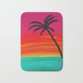 Sunset Palm 2 Bath Mat