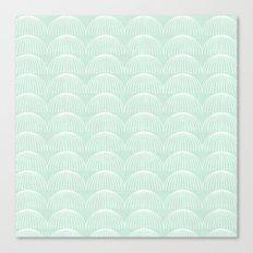 Geometric Umbrellas by Friztin Canvas Print