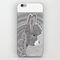 donkey iPhone & iPod Skins featuring Donkey by Olya Goloveshkina
