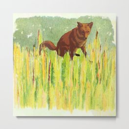 In the long grass Metal Print