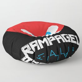 Rampaged Reality Floor Pillow