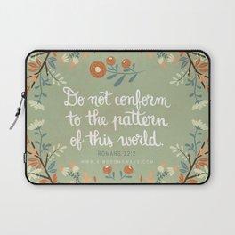 Romans 12:2 Do Not Conform Laptop Sleeve